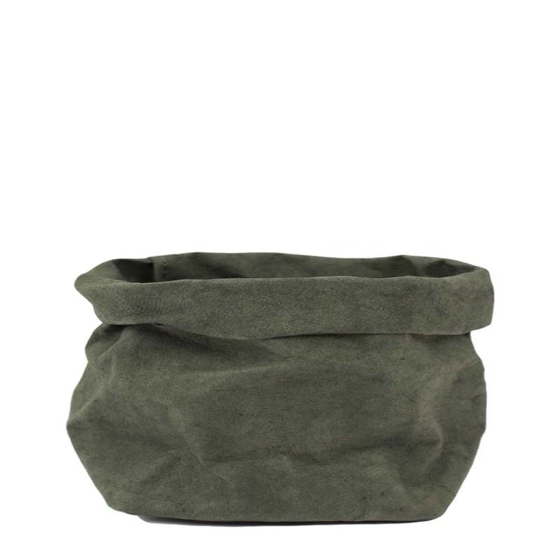 Uashmama Large Paper Bag, Dark Green
