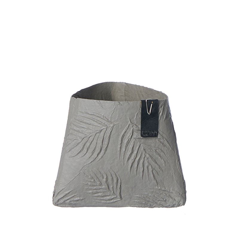 Oohh Collection Leaf triangle paper pot, Taupe