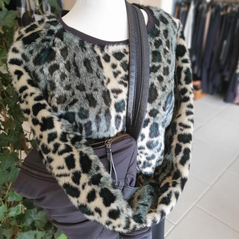 Maison Scotch Fake Fur bluse str. 2 (m)