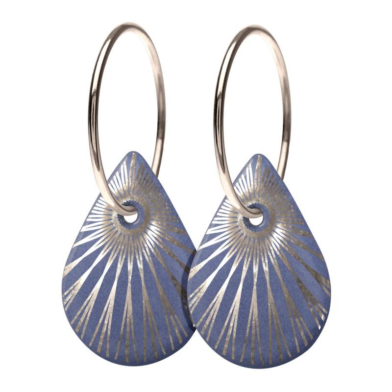 Scherning SPLASH Teardrop Øreringe Lavender/Silver