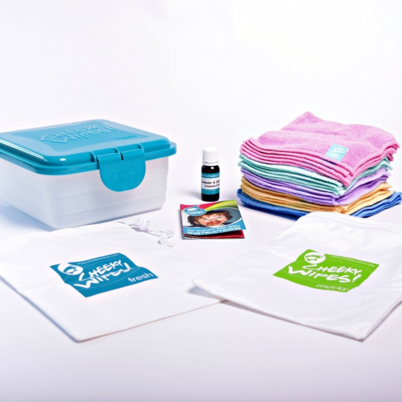 Cheeky wipes- hands and face kit- organic rainbow cotton