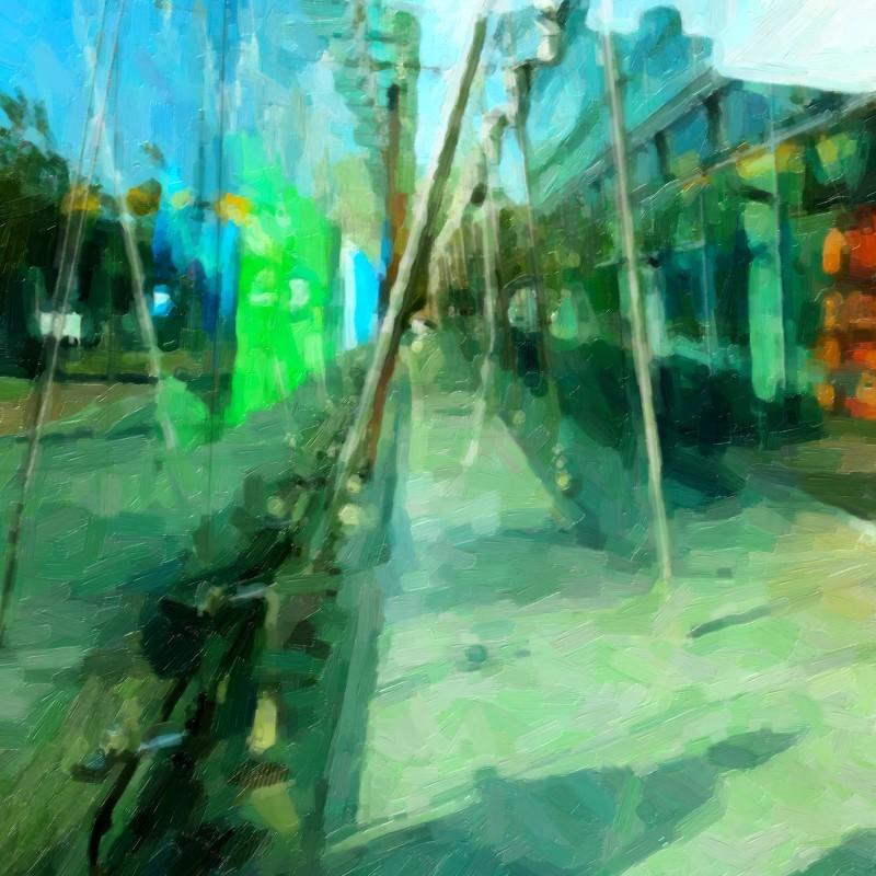 tavla Berlin green, plexi 110 x 120 cm