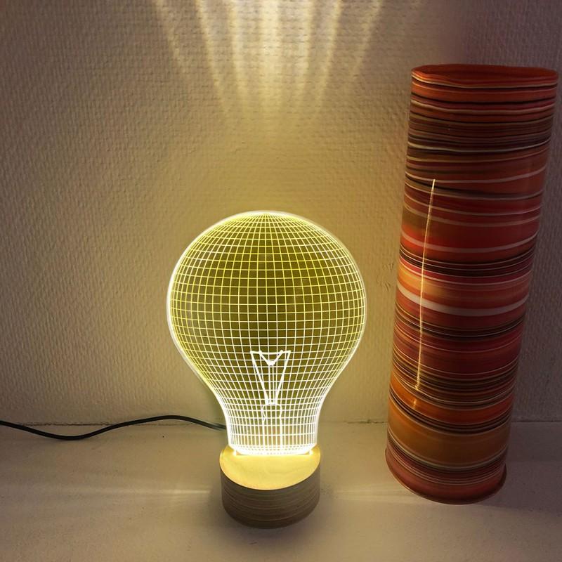 Ledljuslampa Bulb Yellow 3D