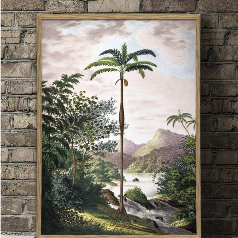 poster palm i djungel 70x100