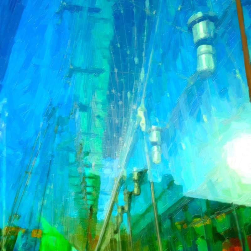 tavla Berlin Blue plexi 110 x 120 cm