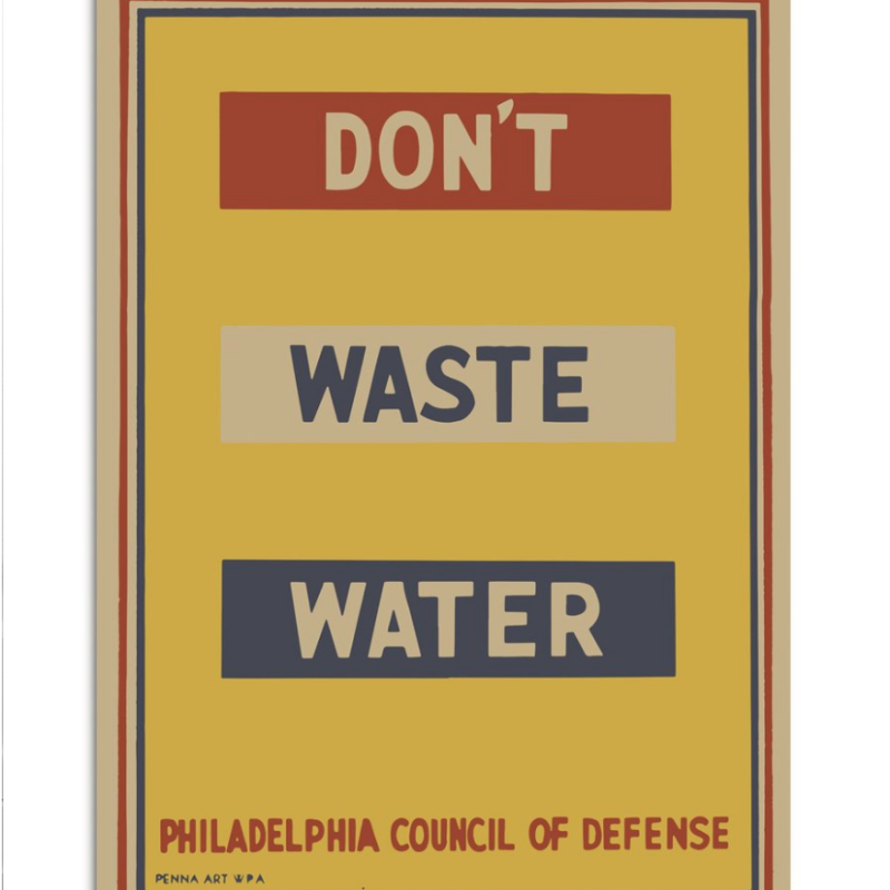 poster Don't Waste Water