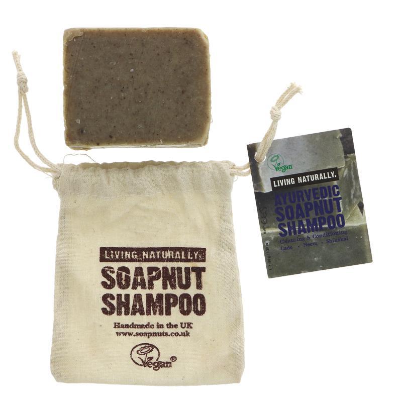 Living Naturally Ayurvedic Soapnut Shampoo Bar 90g