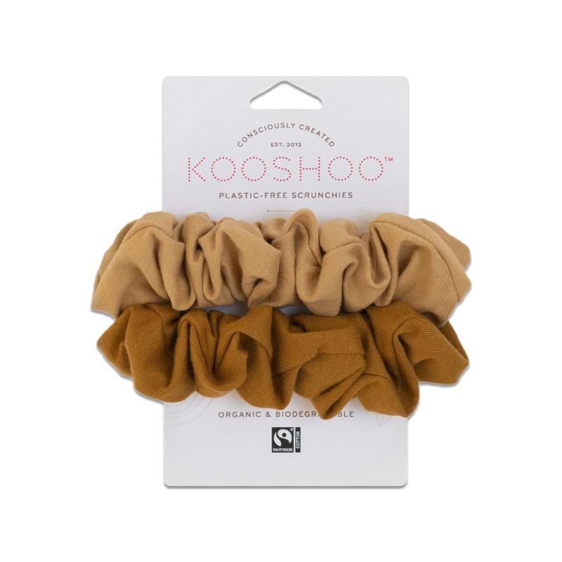 Kooshoo Scrunchies Gold Sand 4536