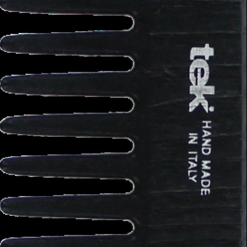 TEK Medium sized wooden comb with wide teeth Black 4536