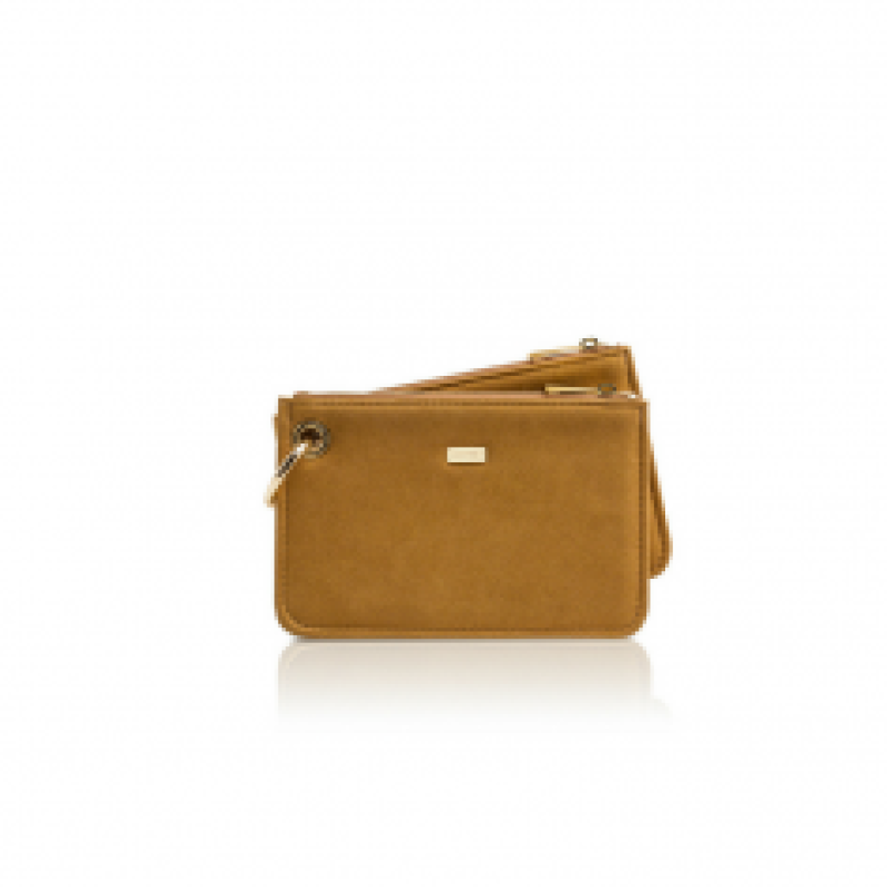 0.5 Caramello suede gold vegan bag. Ord pris 1530kr