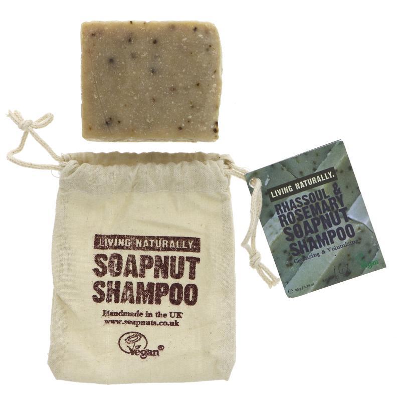 Living Naturally Rhassoul & Rosemary Shampoo 90g