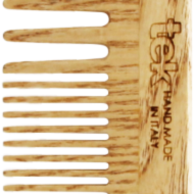 TEK Large wooden comb with wide and medium sized teeth 4536