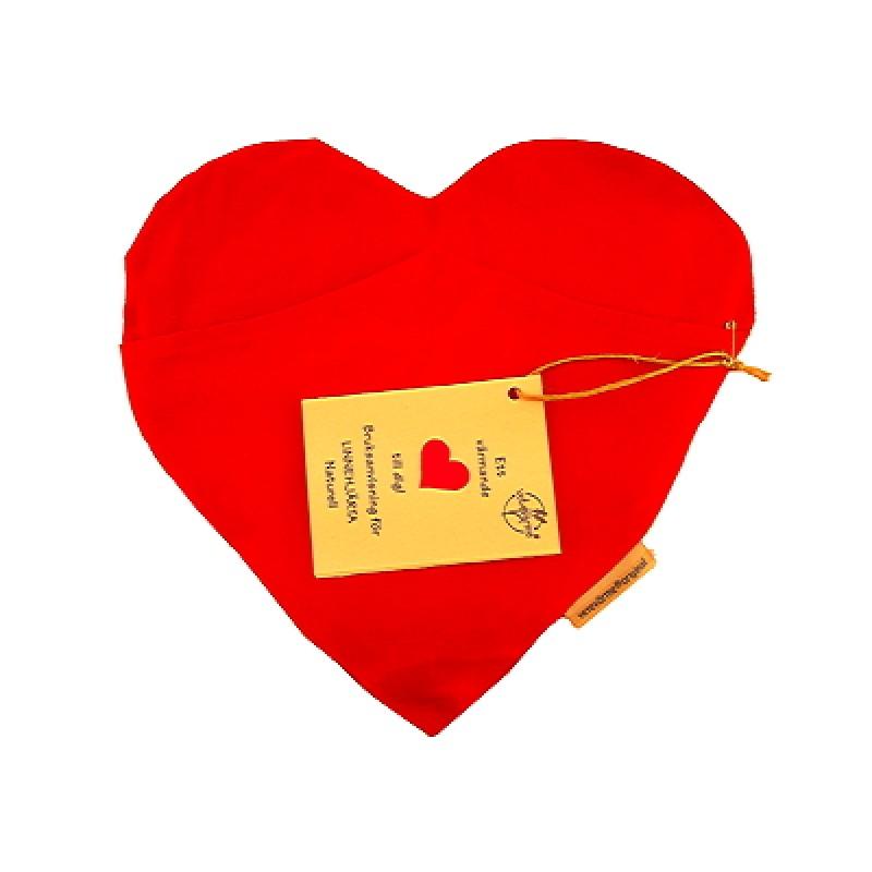 Hjärta Vetevärmare Naturell Röd