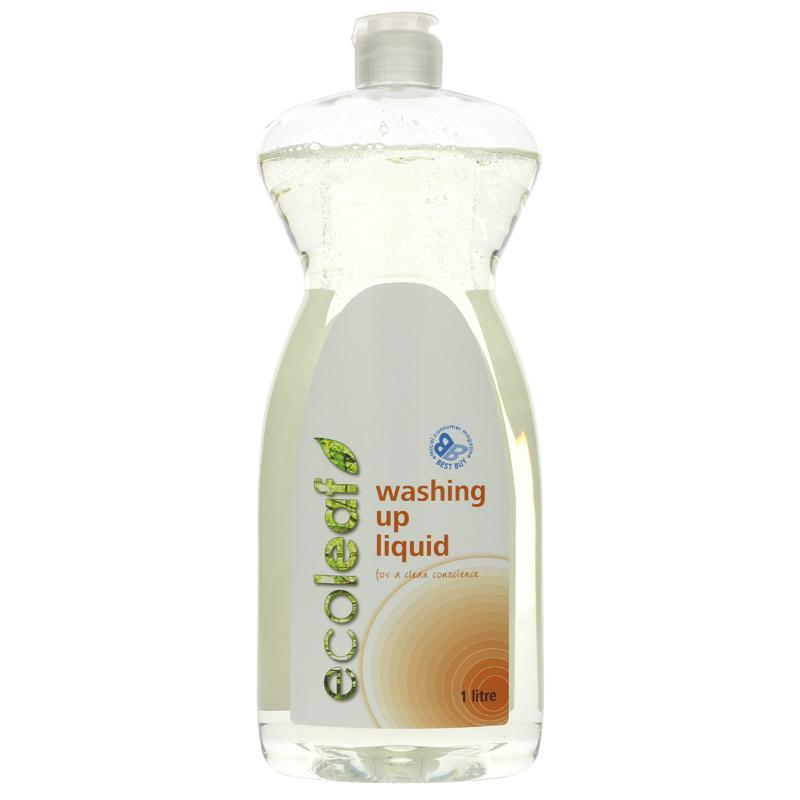 Ecoleaf Washing Up Liquid 1l Diskmedel
