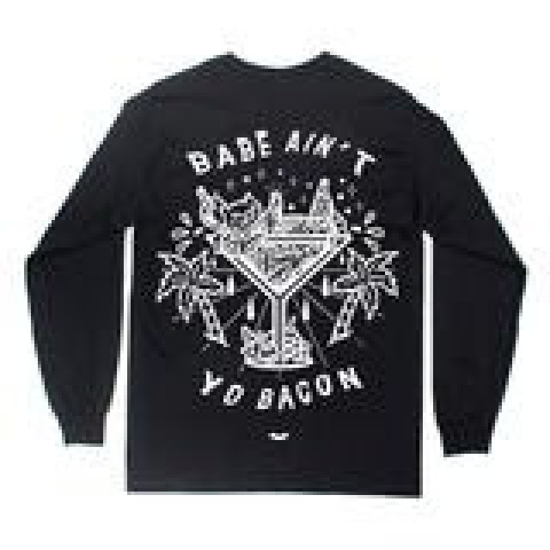 Babe Ain't Yo Bacon Long Sleeve - Black REA! 50%rabatt ord.pris 435kr.