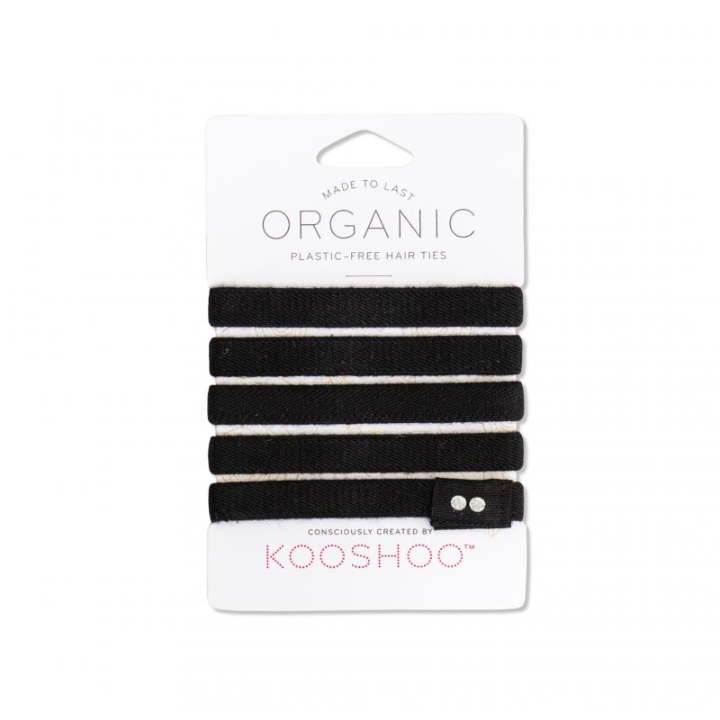 KOOSHOO Organic Hair Ties - Black 4536