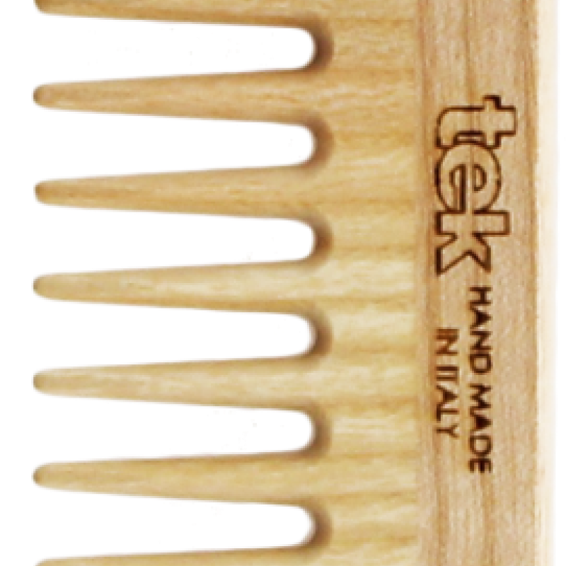 TEK Medium sized wooden comb with wide teeth 4536