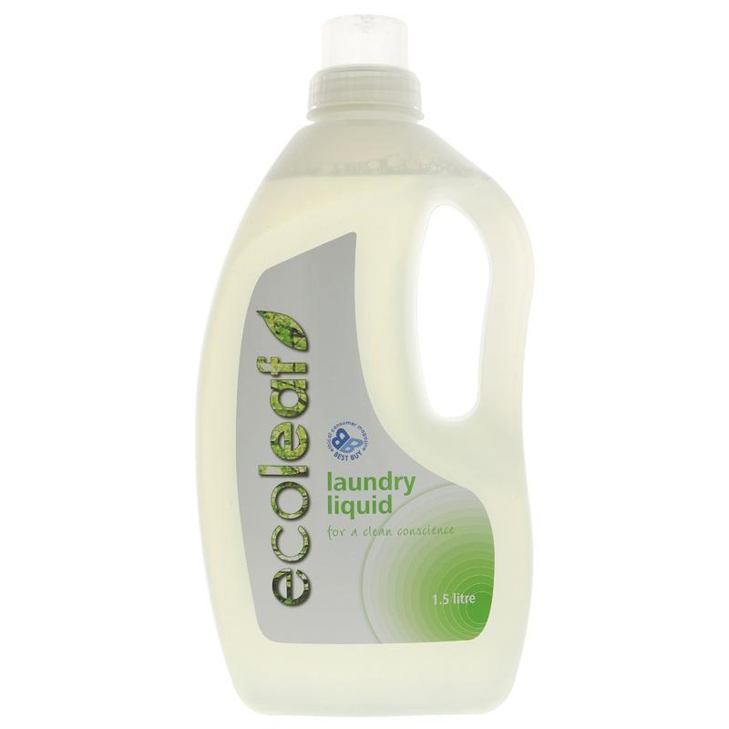 Ecoleaf Laundry Liquid 1.5l Flytande Tvättmedel