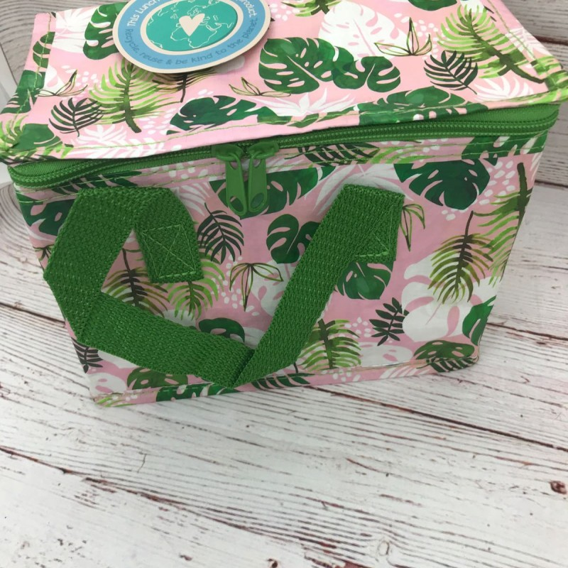 Insulated lunch bag - tropical palm