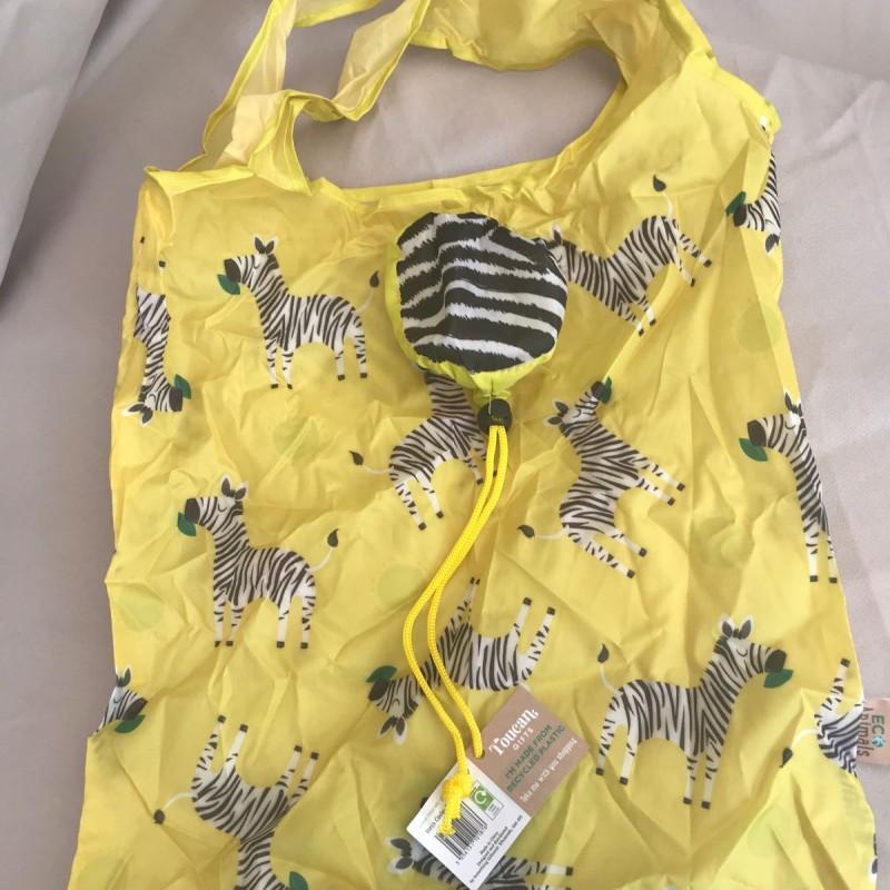Pack away shopping bag - Zebras