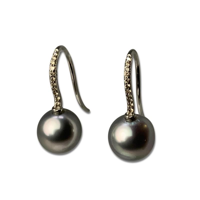 Örhängen med Diamanter Pärlor