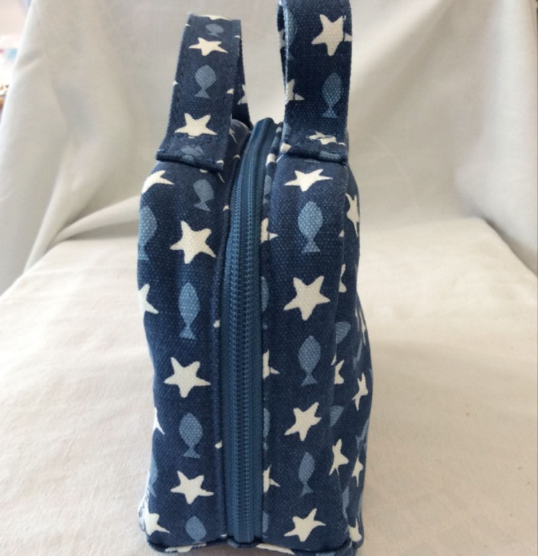 Fish and stars wash bag