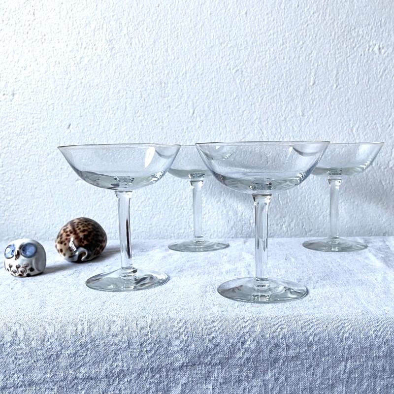 Champagnekupor, set om fyra