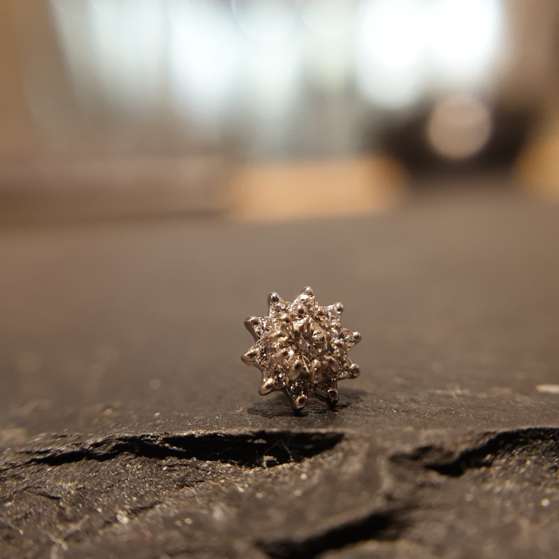 Auris Echtgold Diamant Blume