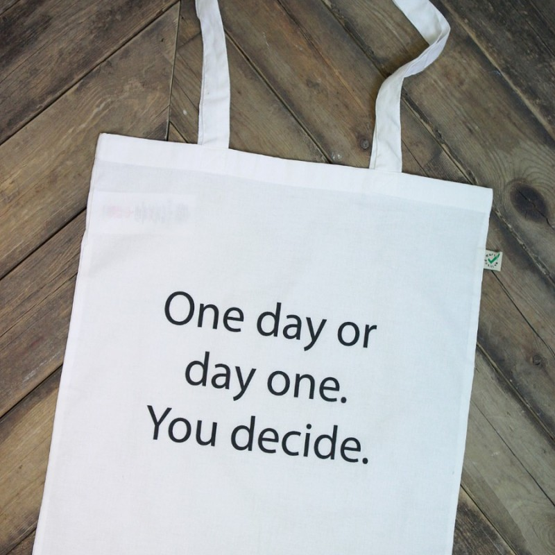 """""""One day""""-tygkasse"""