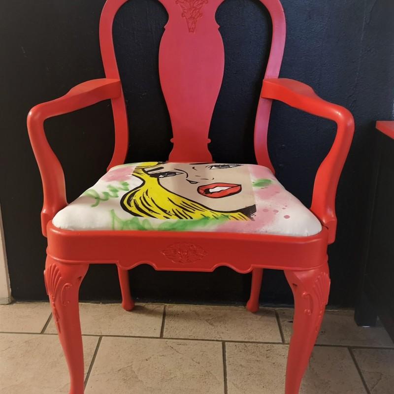 Färgglada pop art stolar