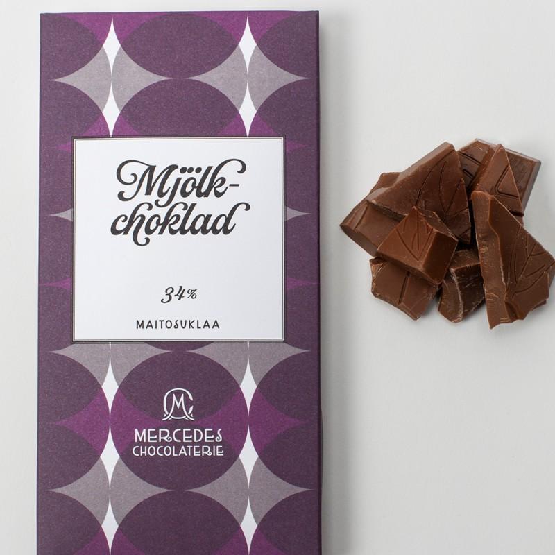 Mercedes chokladplatta - mjölkchoklad 34 %