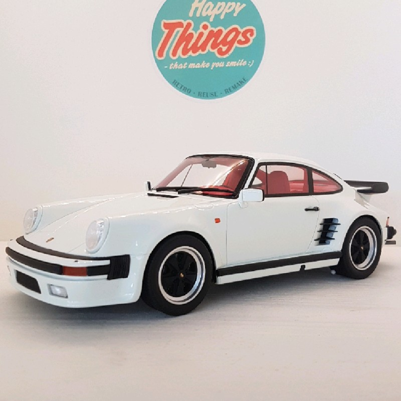 1:18 Porsche 911 930 Turbo S, hvid, GT Spirit, limited, 1:18