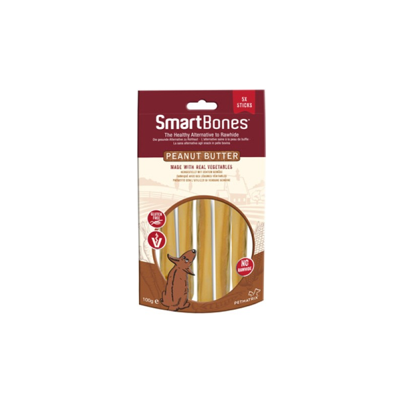 SmartBones Peanutbutter 5-p sticks