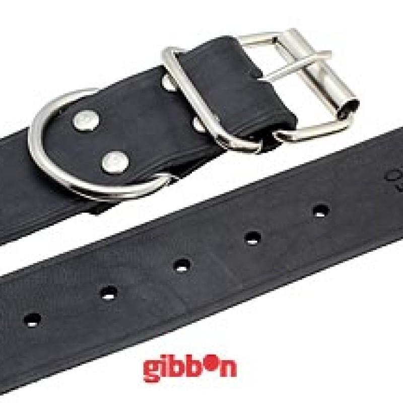 Läderhalsband bred