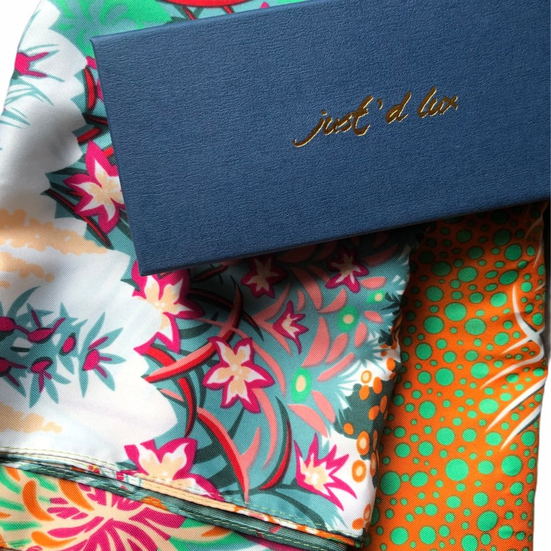 Just d lux - Satinscarf multi