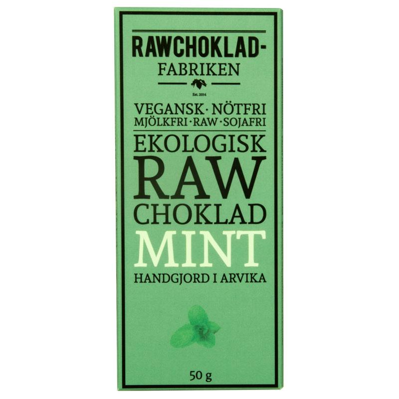 Rawchokladfabriken - Rawchoklad Mint Nibs 73%