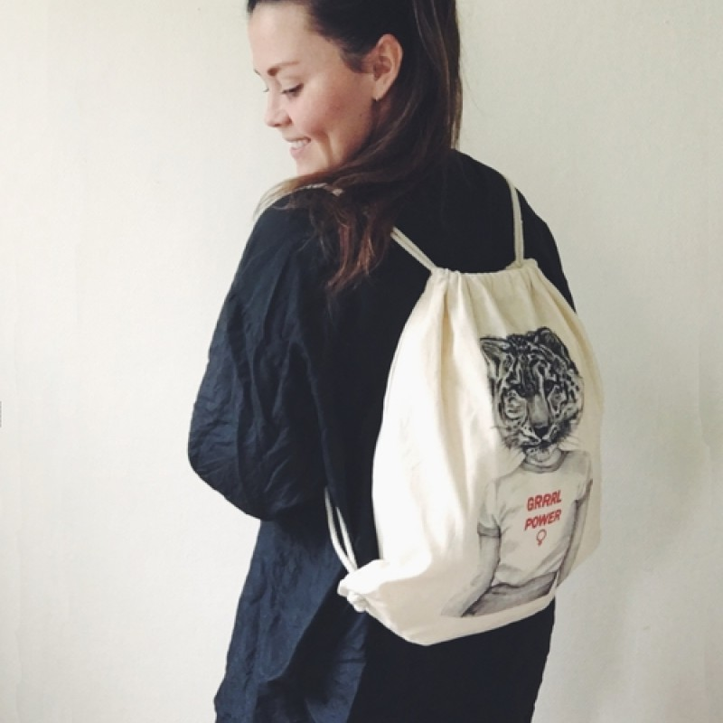 Frida Clerhage - Grrrl power drawstring backpack