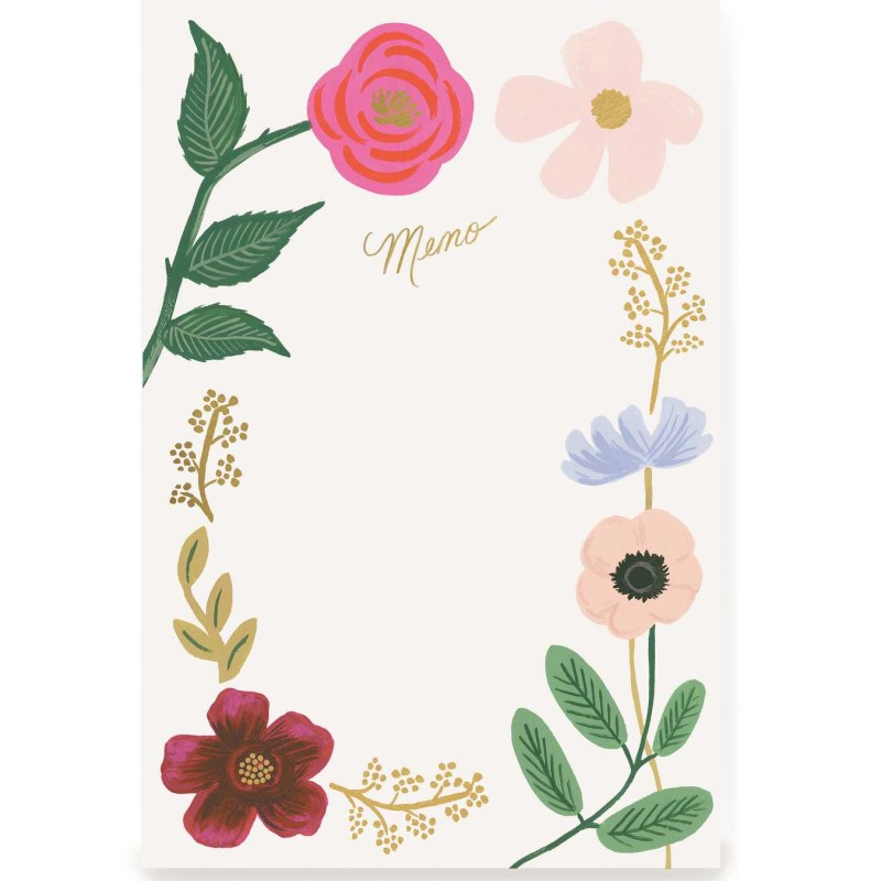 Rifle Paper Co - Wildflowers Memo Notepad