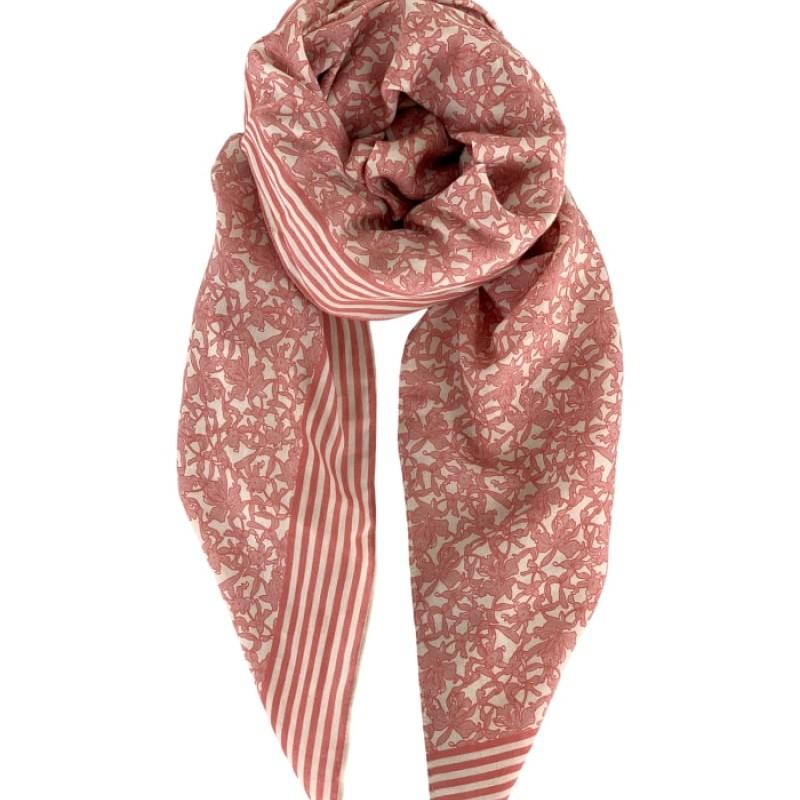 Black Colour - JASMINE scarf rose