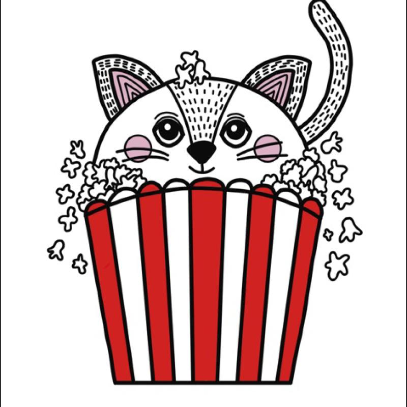 Little Blue Stories - Popcorn Cat