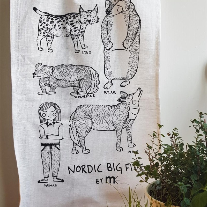 Maja Meurling - Kökshandduk Nordic Big Five