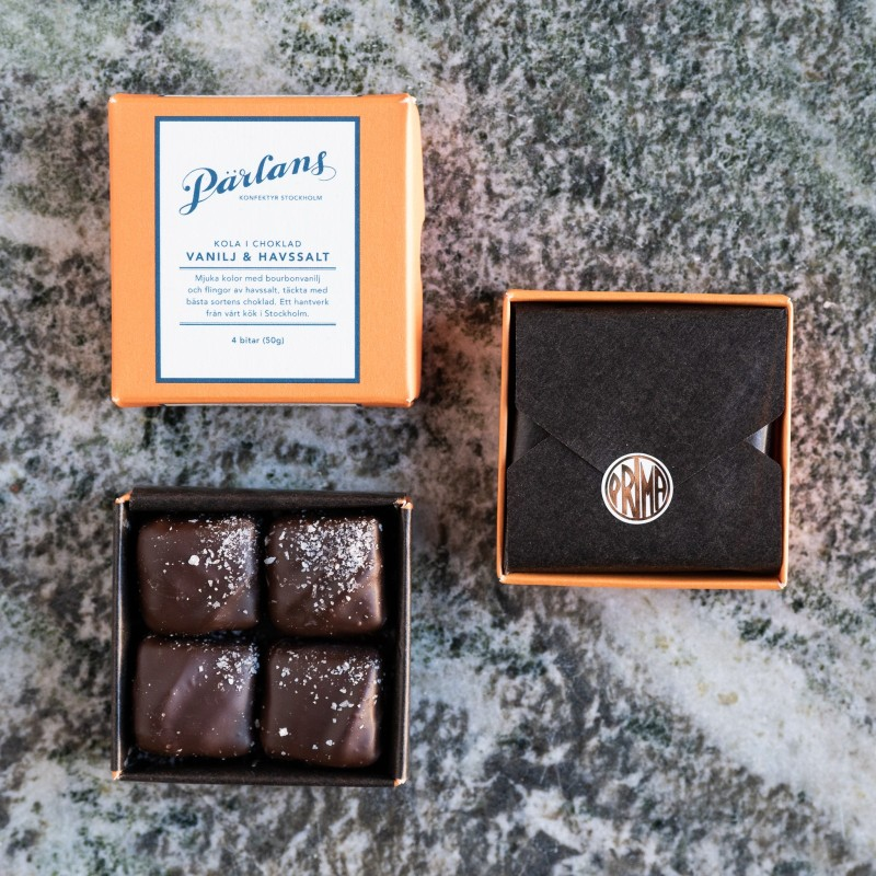 Pärlans Konfektyr - Kola i choklad Vanilj & Havssalt