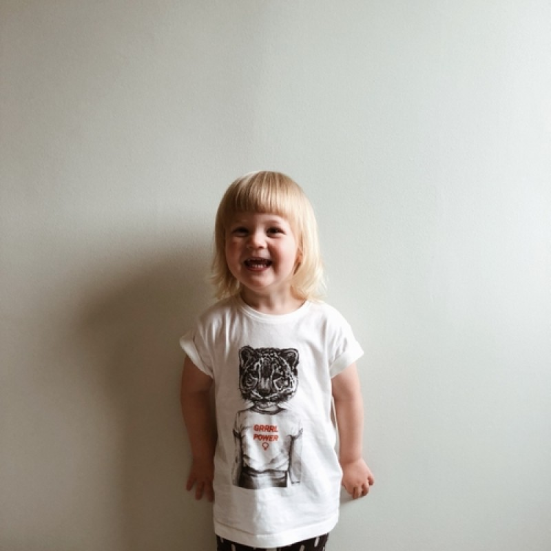 Frida Clerhage - Grrrl power kids t-shirt