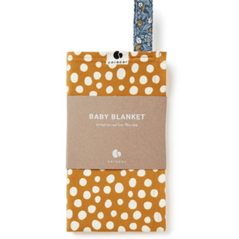 Coracor - Abstract Dot Mustard Babyfilt