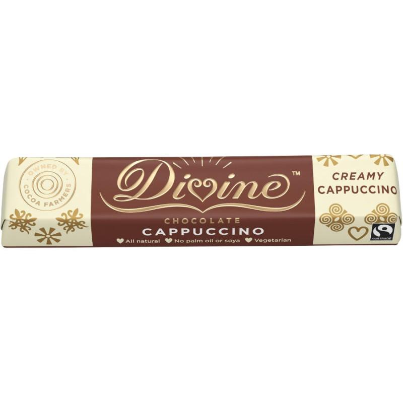 Divine - Cappuccino vit- & mjölkchoklad 35 g