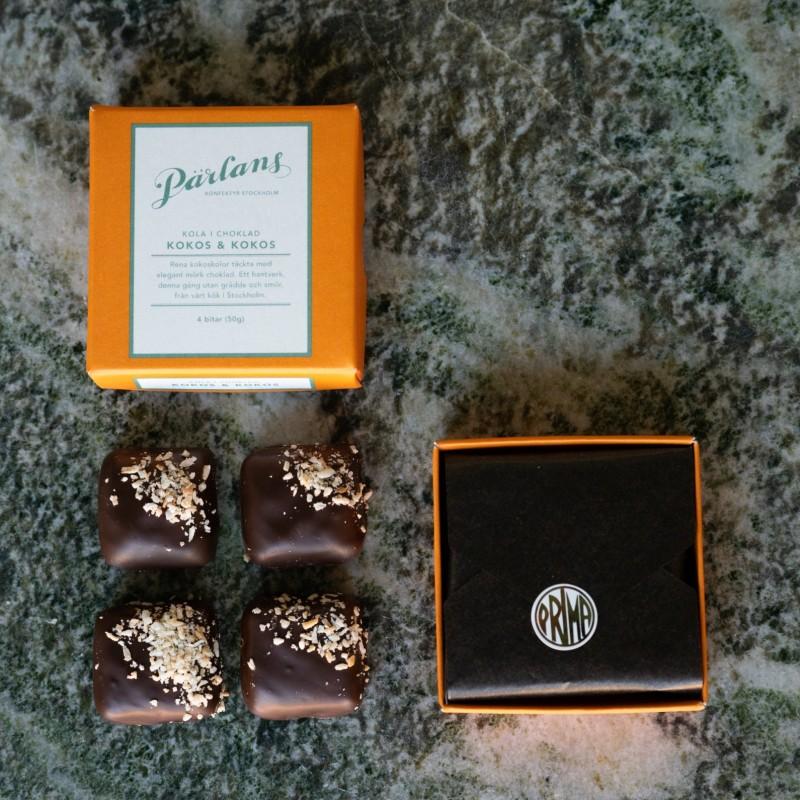 Pärlans konfektyr - Kola i choklad Kokos