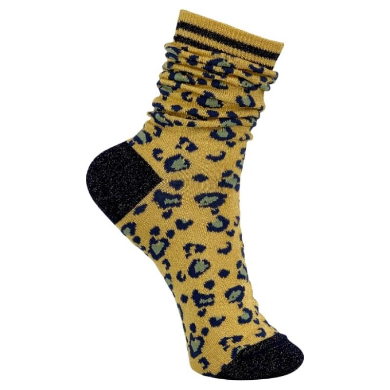 Black Colour - Leo socks yellow