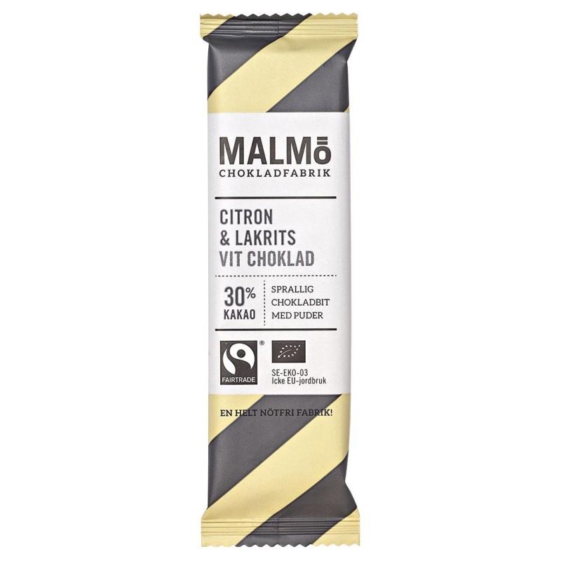 Malmö Choklad - Citron & Lakrits Vit Choklad