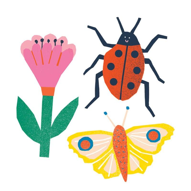 The Printed Peanut - Stickers djur/blomma