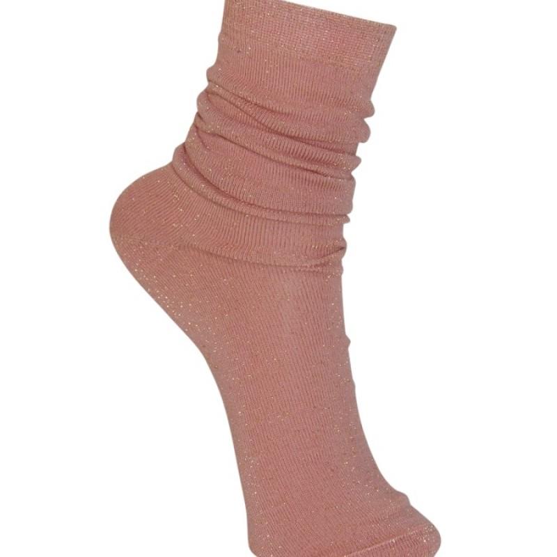 Black Colour - Lurex sock rose
